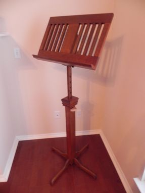 Custom Made Cherry Music Stand