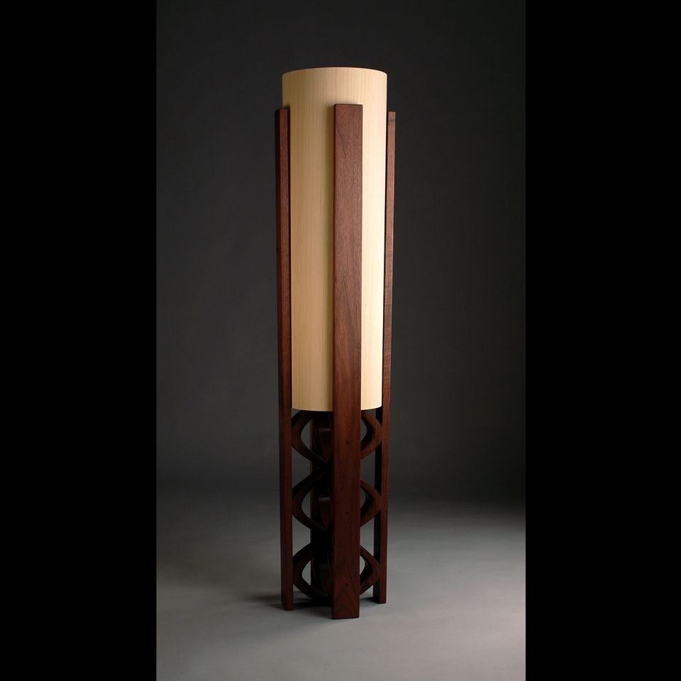 Custom Quot Galene Quot Black Walnut Floor Lamp By Kyle Dallman