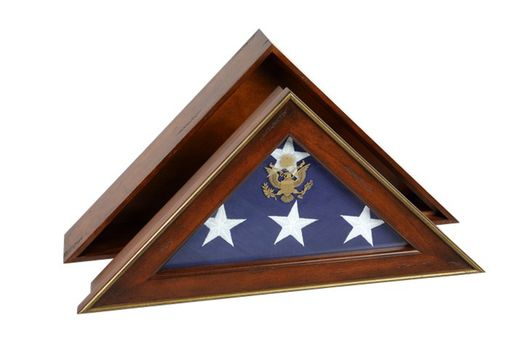 Custom Made Five Star General Flag Case Burial Flag Display Case