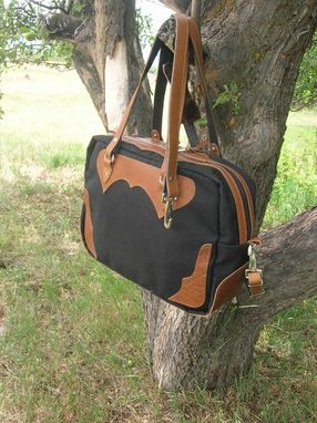 Custom Made Western Day Traveler Bag - Buffalo Leather