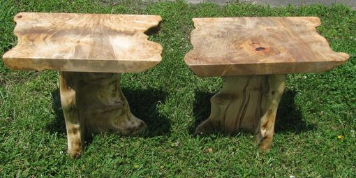 Custom Made Live Edge Urban Rescue Burl Maple Coffee Table