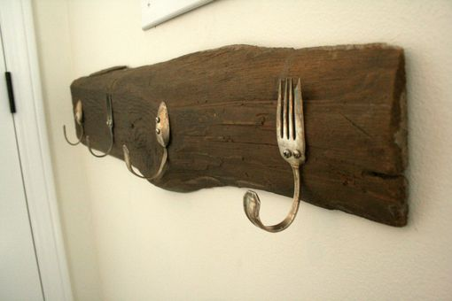Custom Made Vintage Silverware Coat Hook