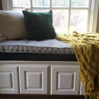 Hand Made French Tufted Window Seat Cushion By Hearth And
