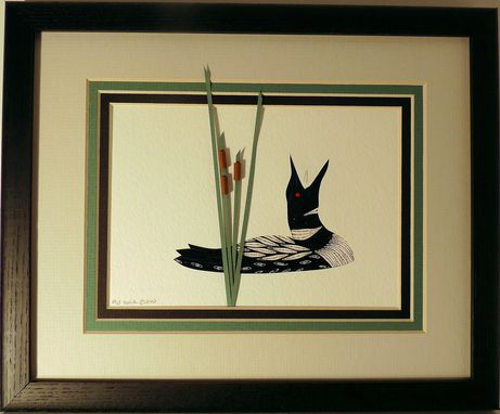 Buy Hand Crafted Loons - Quilled Framed Wall Art New Hampshire Loons ...
