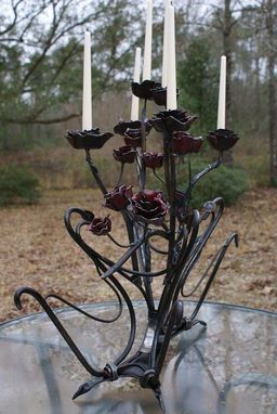 Custom Made Rose Candleabra