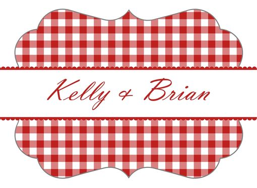 Custom Made Custom Wedding Stickers - Picnic Time - Guest Bag Labels - Candy Bar Stickers