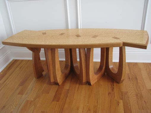 Custom Made Birds Eye Maple Bench