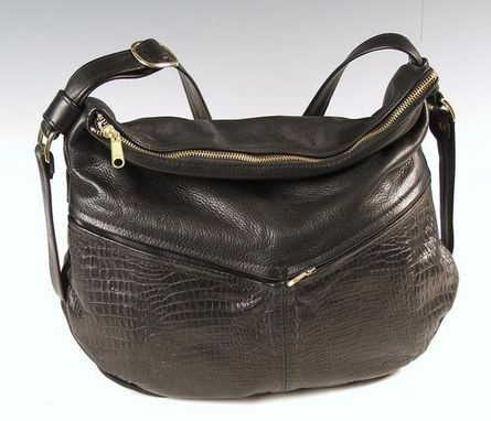 Custom Made Jessica Black Leather Handbag
