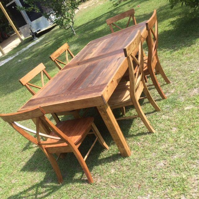 Custom Built Dining Room Tables: Custom Made Reclaimed Redwood Dining Table By Coastal