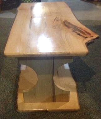 Custom Made Mirror Image Live Edge Maple Coffee Table