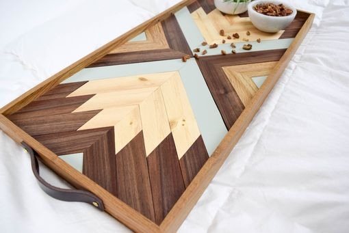 Custom Made Indra Wood Serving Tray