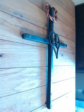 Custom Made Forged Cross With Copper Nails