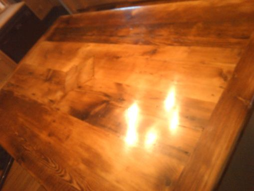 Custom Made Rustic Kitchen Island With Wood Top