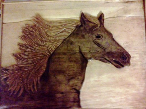 Custom Made Horse-Relief Carving By Mark Ash