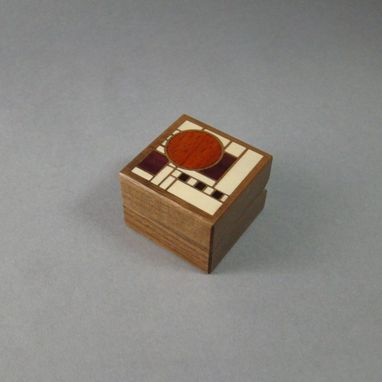 Custom Made Art Deco Inlaid Ring Box With Free Engraving And Shipping. Rb-4