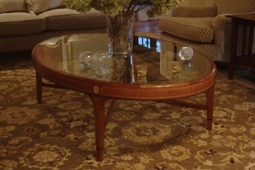 Custom Made Federal Style Oval Coffee Table