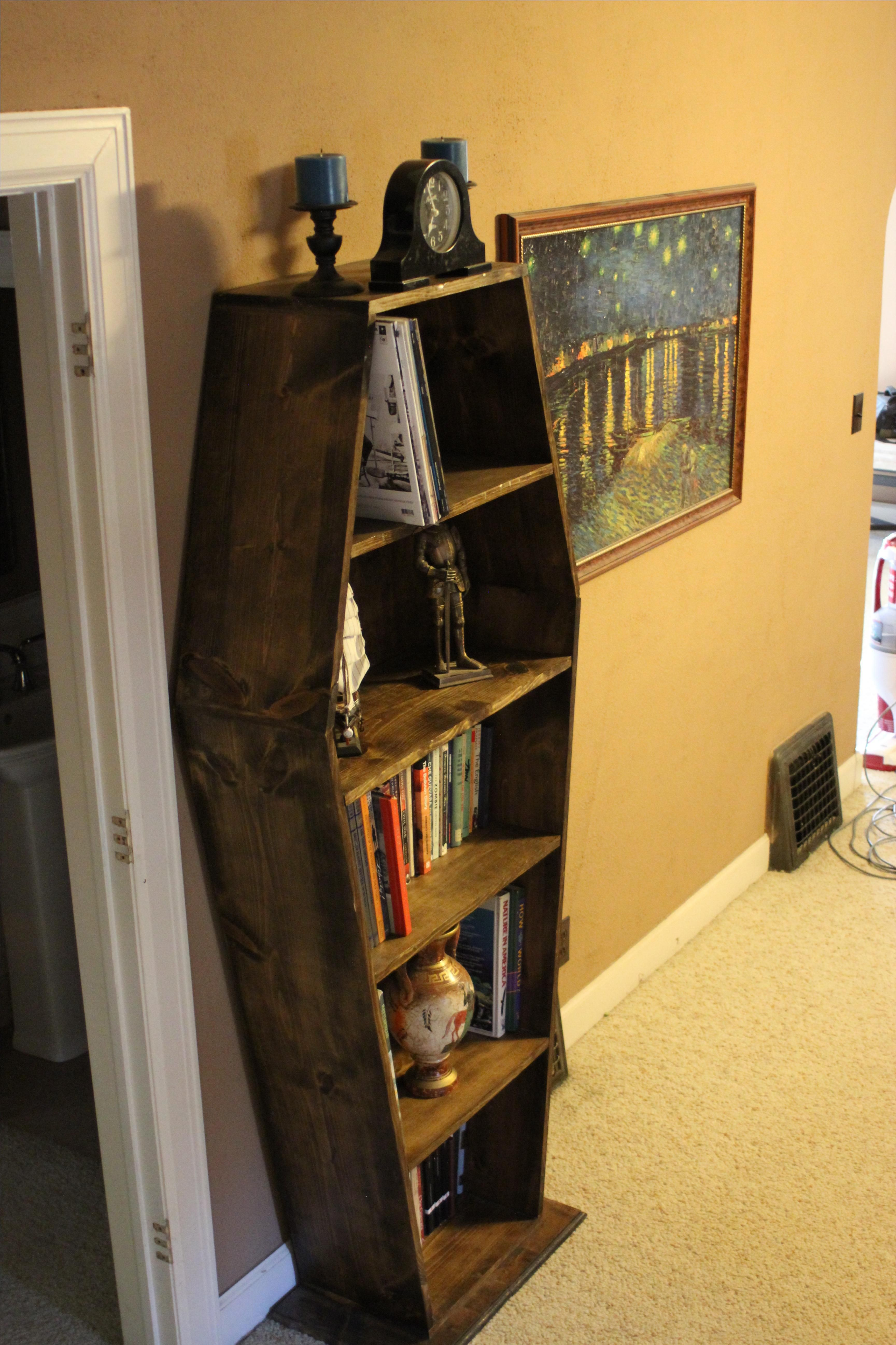A Hand Made Coffin Bookcase To Order From Wartooth Workbooth Custommade