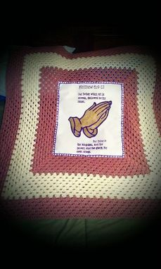 "Custom Made The ""Lord's Prayer"" Blanket"