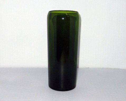 Custom Made Wine Bottle Vase: Bordeaux Green