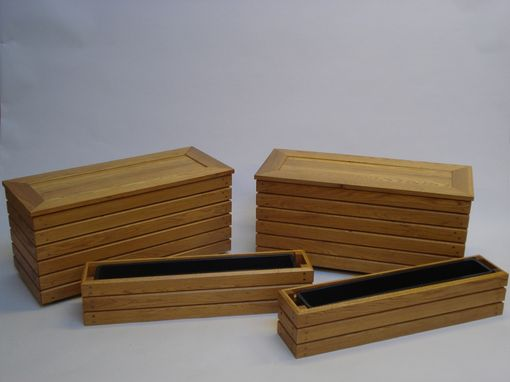Custom Made Patio Storage Benches And Window Boxes