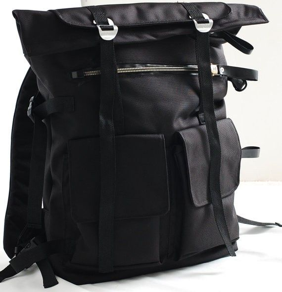 Handmade Waterproof Back Pack,A Large Backpack, Unisex Black ...