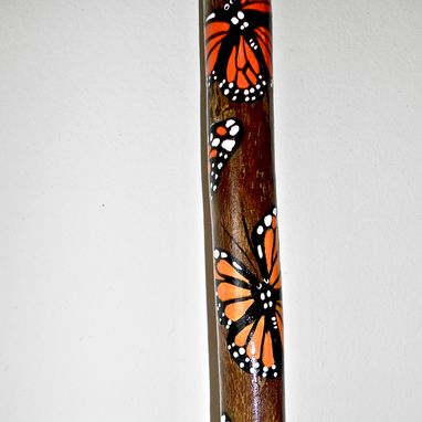 Custom Made Monarch Butterfly Hiking Stick