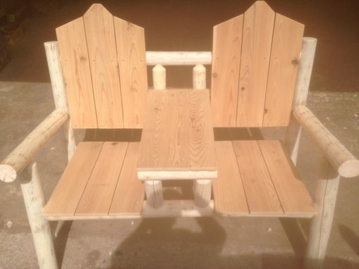 Custom Made Adirondack Style Cocktail Bench For Two