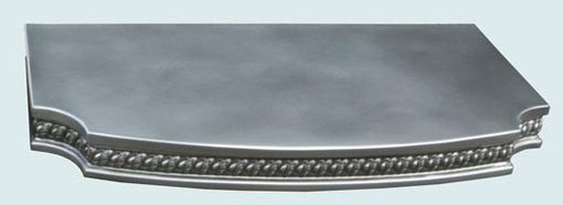 Custom Made Pewter Countertop With Braid Edge & Scallop Corners
