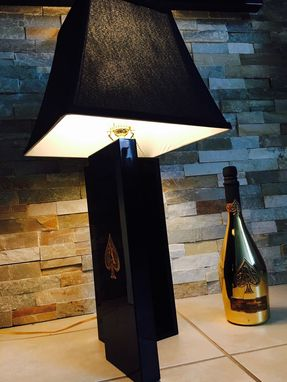 Custom Made Ace Of Spades Champagne Lamp/Bottle And Book Included.