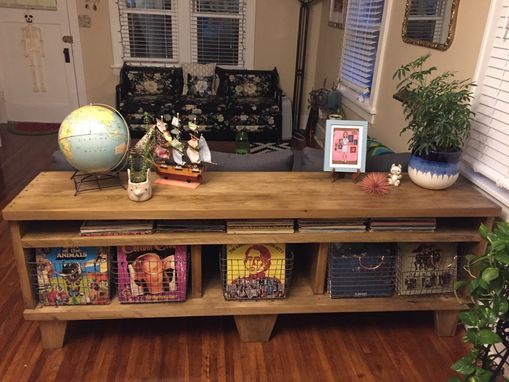 Custom Made Record Storage Sofa Table