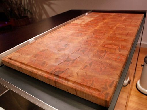 Custom Made Ambrosia Spalted Maple Butcher Block Island Top