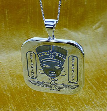 Custom Made Two Inches Long Laser Engraved Pendant