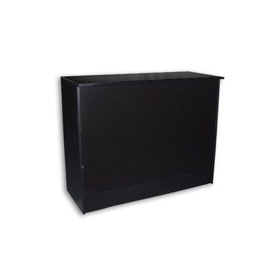 Custom Made Jet Black Flat Top Sales Counter