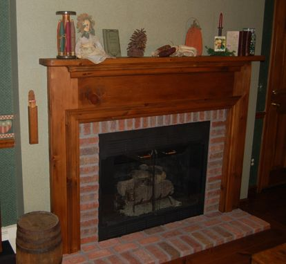Custom Made Reclaimed Pine Mantel