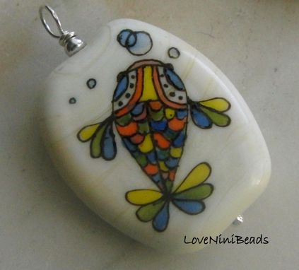 Custom Made Glass Beads - Custom Enamel Painted Design