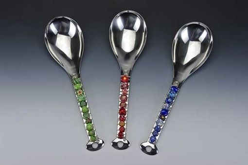 Custom Made Hand Beaded Large Serving Spoon