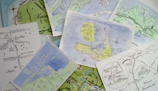 Custom Made Hand Illustrated Maps