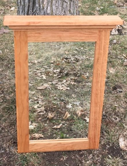 cherry wood bathroom mirror custom made cherry wood framed mirror cherry 17735