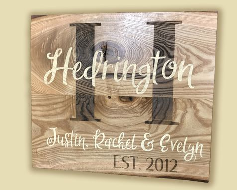 Custom Made Last Name, Date Established Family Plaque