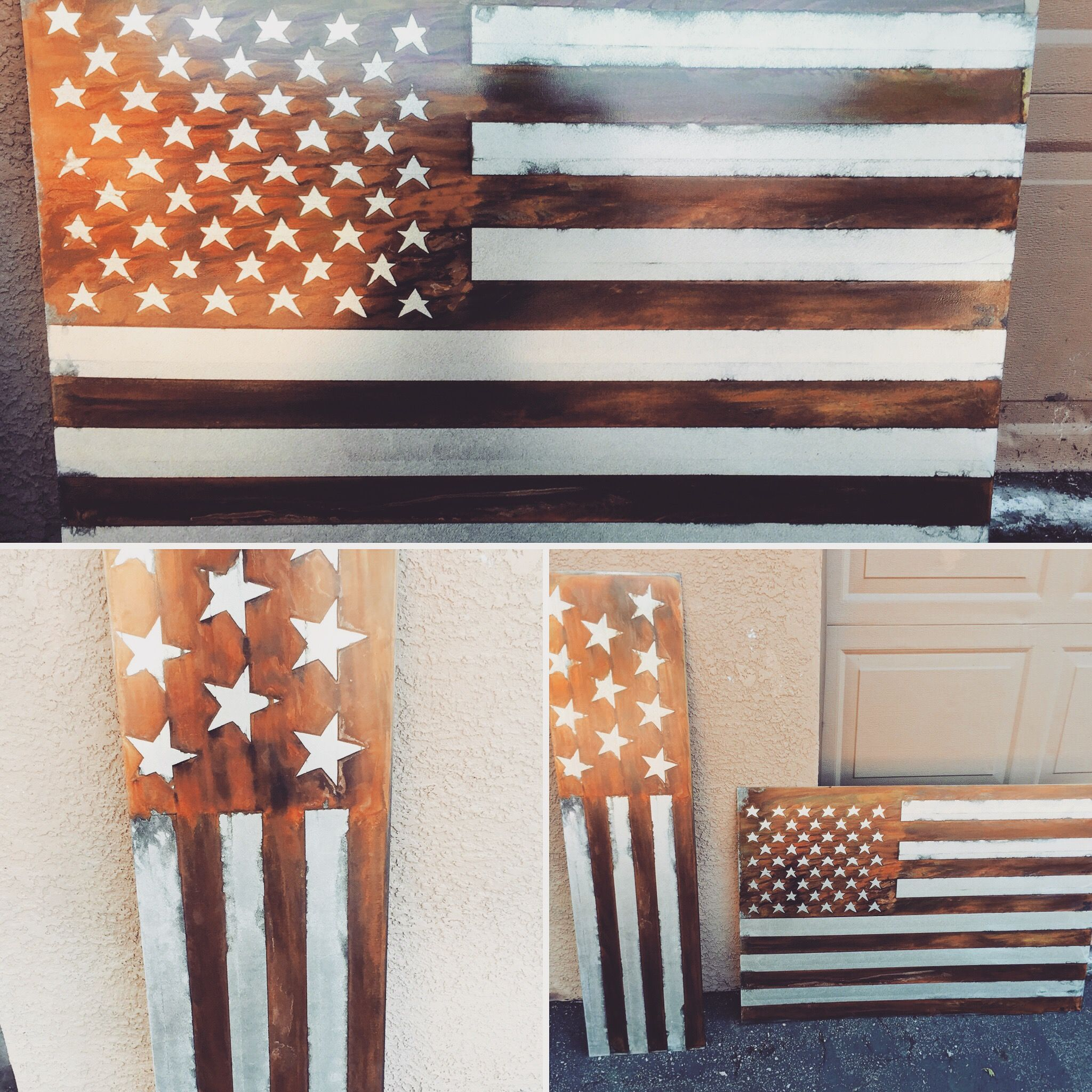 Custom Distressed American Flag By Torched Metal Works Custommade Com
