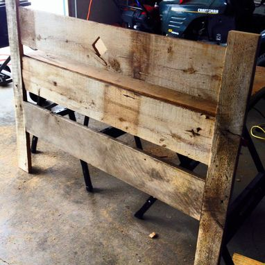 Custom Made Reclaimed Barnwood Headboard