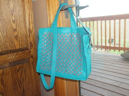 Custom Made Woven Or Checked Leather Designer Handbag