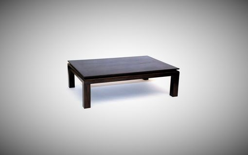 Custom Made Black Mahogany Coffee Table