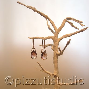 Custom Made 14k Fauceted Drop Earrings 14k