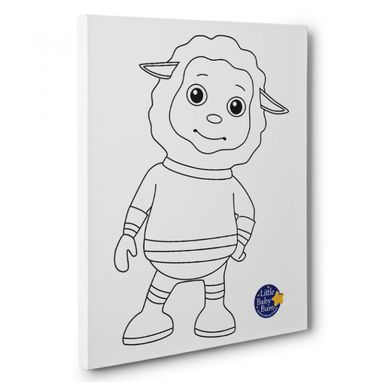 Custom Made Little Baby Bum Baa Baa Kids Room Coloring Canvas Wall Art