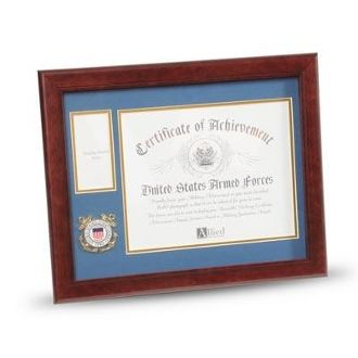Custom Made U.S. Coast Guard Medallion Certificate And Medal Frame