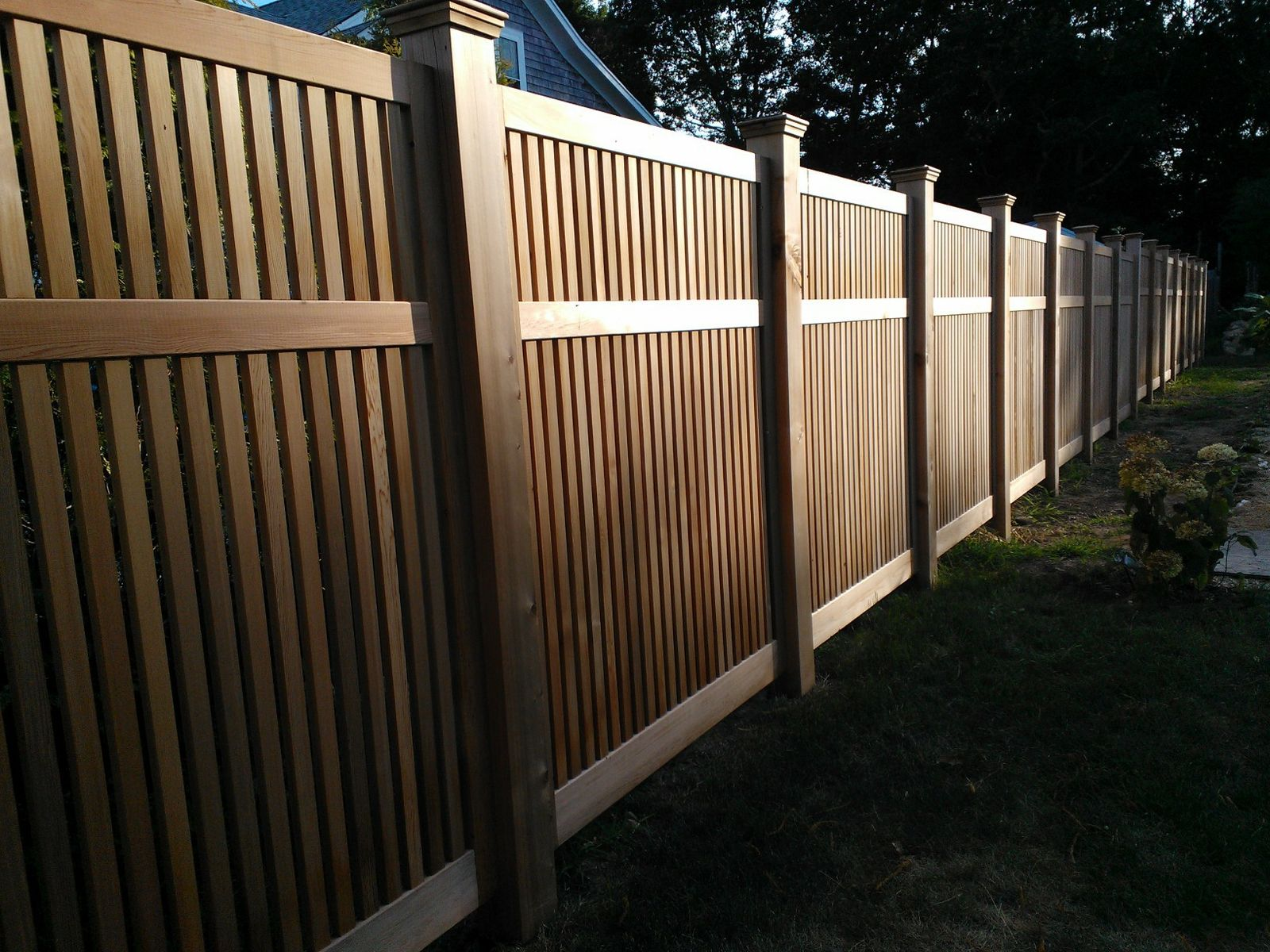 Custom red cedar fence panels by tradecraft