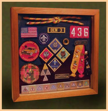 Custom Made Wood Shadow Boxes For Cub Scouts, Boy Scouts And Eagle Scouts