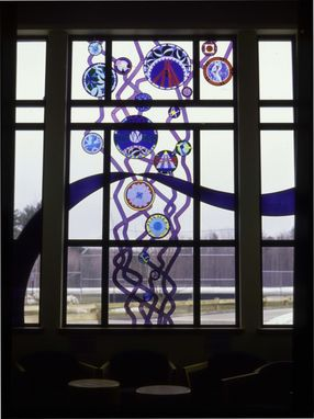 Custom Made Stained Glass Window - Bubbles Rising