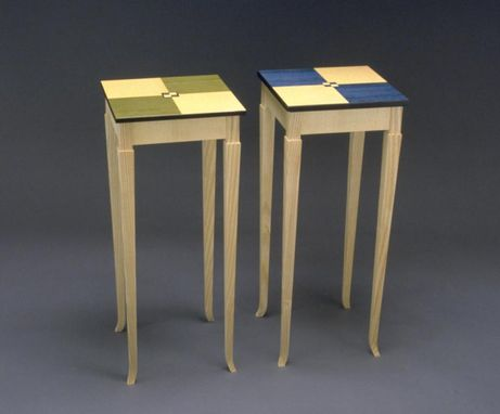 Custom Made Parquet Top End Tables